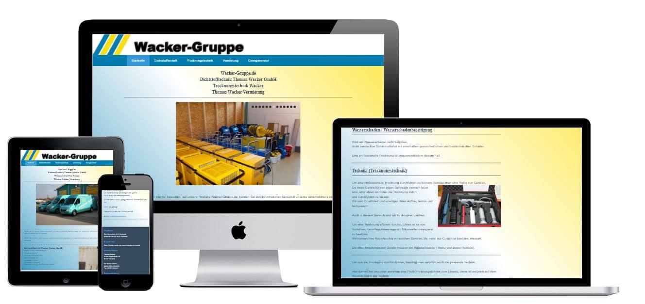 Wacker-Gruppe.de - Websites für jedes Unternehmen