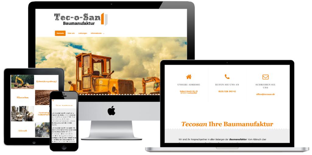 Website Erstellung Tecosan.de