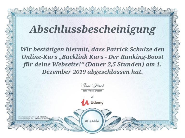 Udemy - Backlink Kurs - Der Ranking Boost für deine Website - Suchmaschinenoptimierung SEO